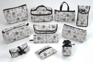 series of black rose bags